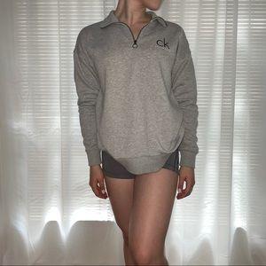 Calvin Klein | Quarter Zip Collared Sweater | S